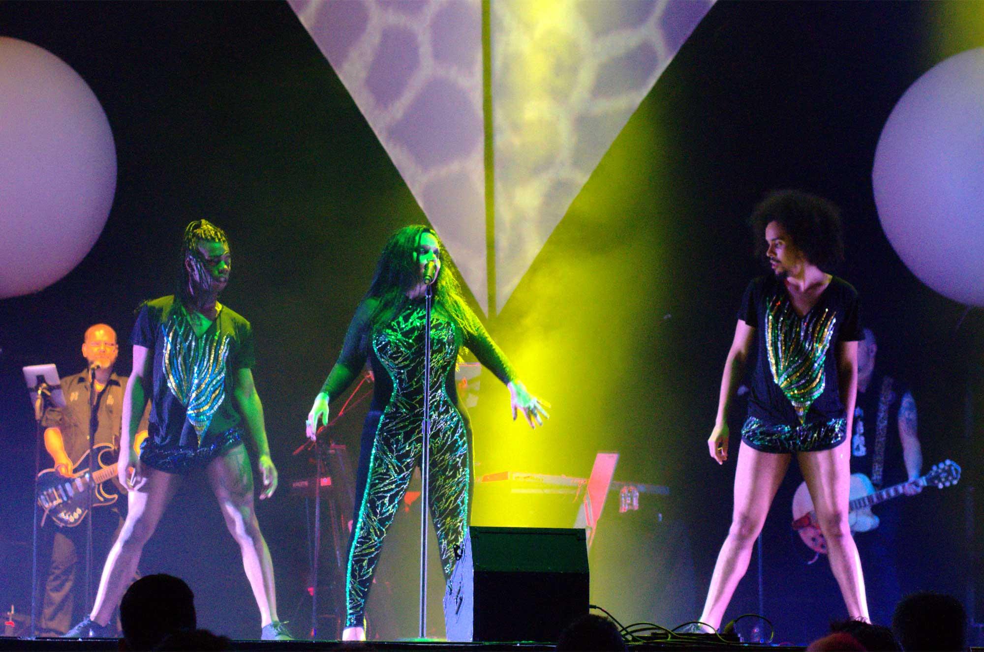 Fangoria actuant en la Festa Major de Sant Boi de Llobregat 2016