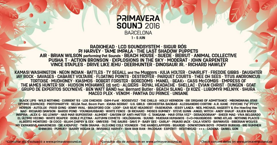 Radiohead, PJ Harvey, Beach House i Los Chichos al Primavera Sound 2016