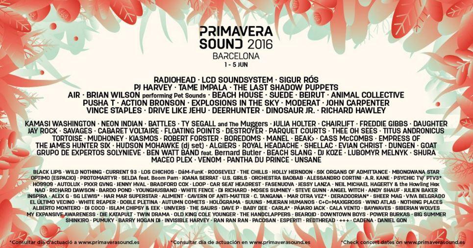 Radiohead, PJ Harvey, Beach House i Los Chichos al Primavera Sound 2016