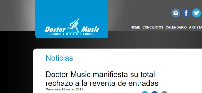 Doctor Music assegura que no s'han desviat entrades del concert de Bruce Springsteen directament de TicketMaster a Seatwave