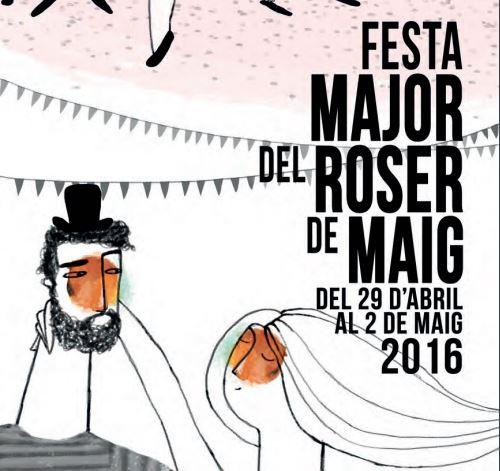 Programa de la Festa del Roser de Maig 2016 de Cerdanyola del Vallès: Amelie, Anti-Patiks, Ítaca Band, La Salseta del Poble Sec, Opatov i molt de reggae i ska