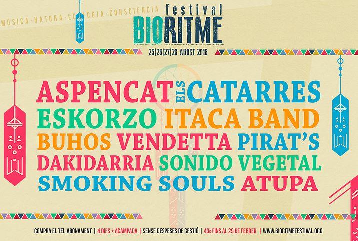 El BioRitme Festival anuncia els primers grups per l'edició 2016