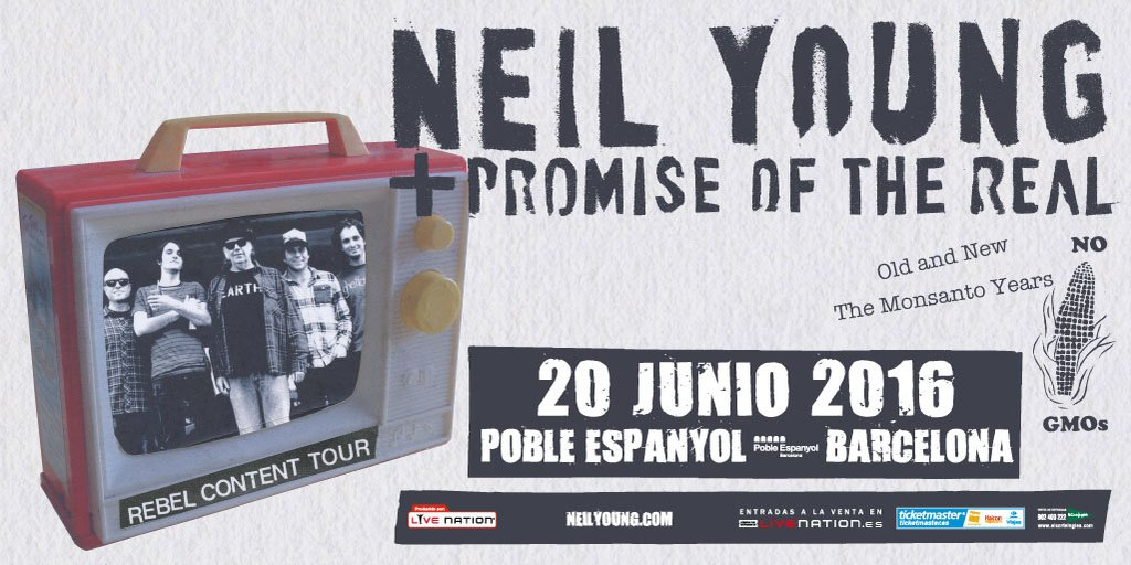 Neil Young presentarà 'The Monsanto Years' a Barcelona