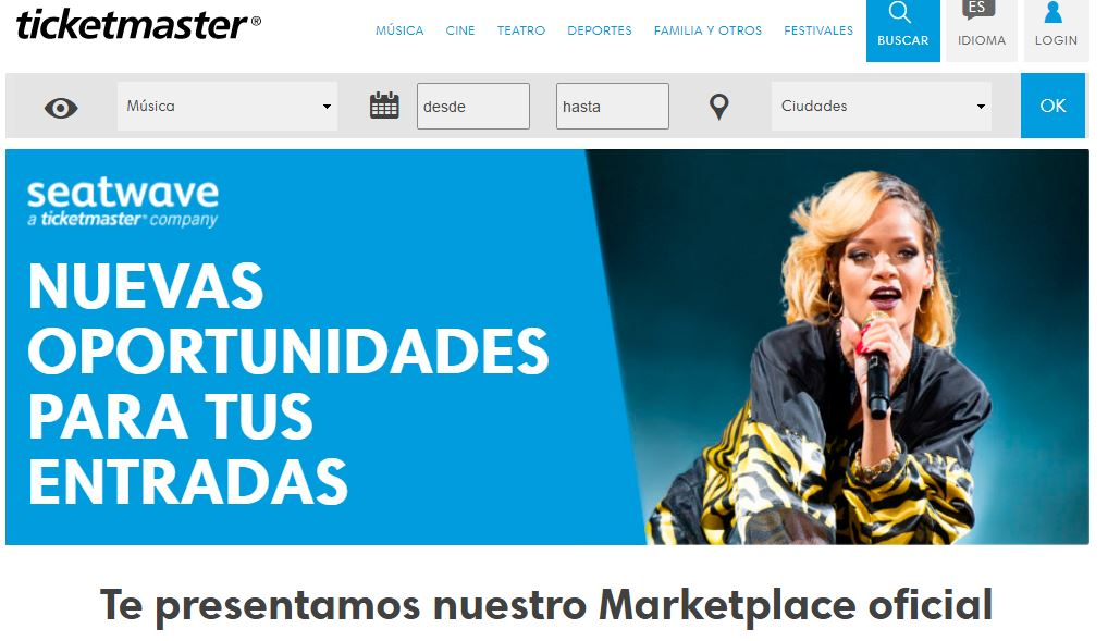 Ticketmaster assegura que la revenda d'entrades a Marketplaces és legal