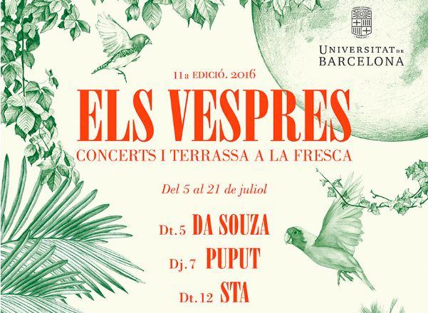 Da Souza, Puput, STA, Aries, Big Ok! i Santi Careta, a Els Vespres de la UB