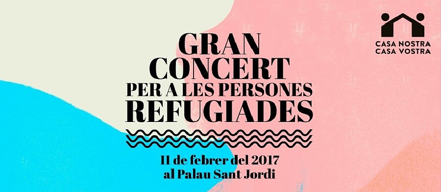Concierto en el Sant Jordi afavor de los refugiados: Manolo García, Antonio Orozco, Silvia Pérez Cruz, Macaco...